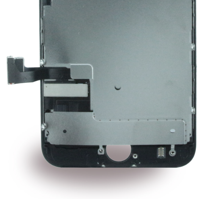 Image of   Apple iPhone 7 - Spare Part - Complete LCD Display Module incl. Light Sensor + Front Camera - Black