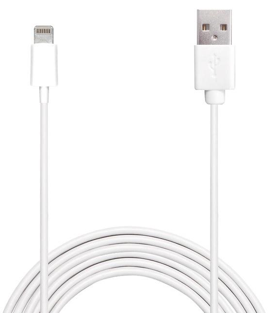 Billede af Puro Lightning til USB datakabel 2 meter Apple godkendt Hvid
