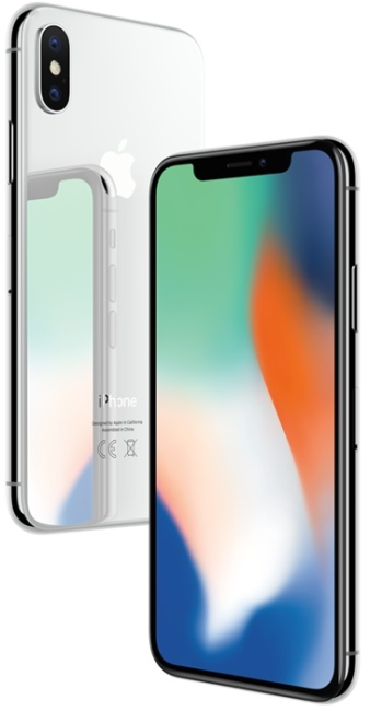 Image of   Apple iPhone X 64GB Sølv