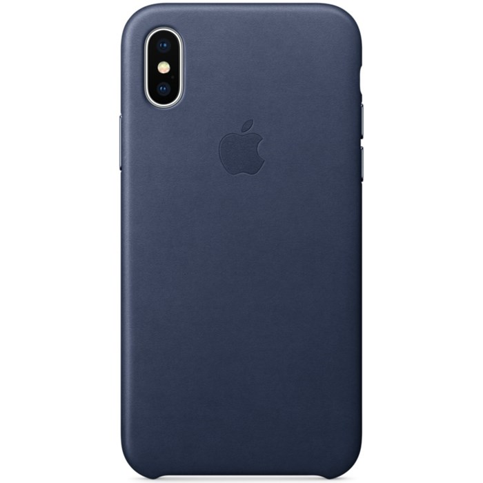 Image of   Apple iPhone X Leather Case - Midnight Blue MQTC2ZM/A