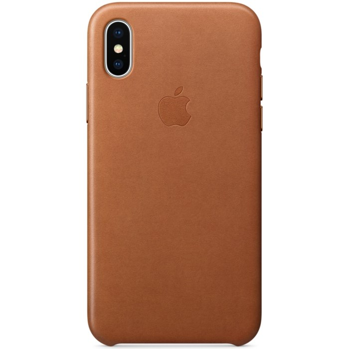 Image of   Apple iPhone X Leather Case - Saddle Brown MQTA2ZM/A