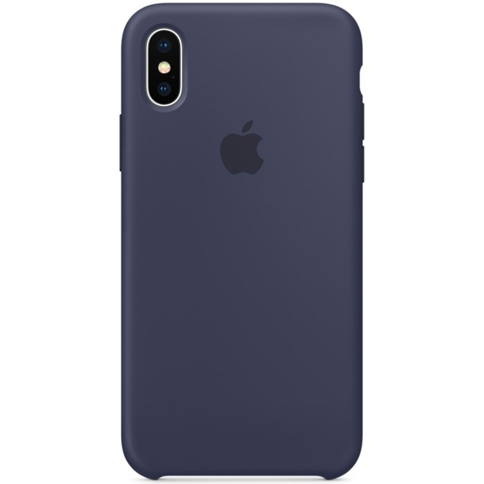 Image of   Apple iPhone X Silicone Case - Midnight Blue MQT32ZM/A