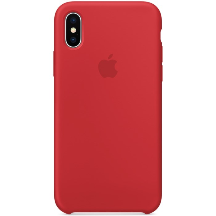 Image of   Apple iPhone X Silicone Case - (PRODUCT)RED MQT52ZM/A