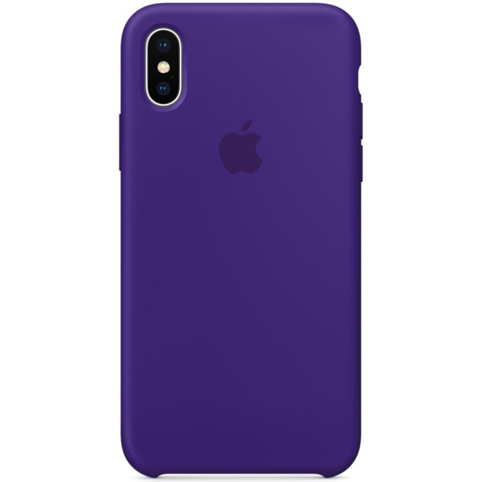 Image of   Apple iPhone X Silicone Case - Ultra Violet MQT72ZM/A