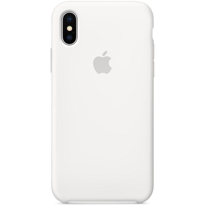Image of   Apple iPhone X Silicone Case - White MQT22ZM/A