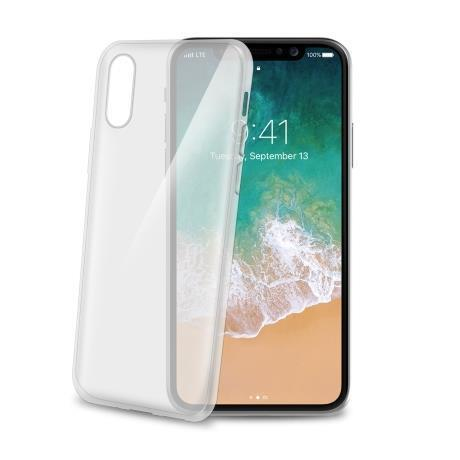 Image of   Apple iPhone X/XS Celly Gelskin TPU Cover Gennemsigtig