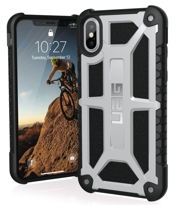 Image of   Apple iPhone X/XS Cover UAG Monarch Grå Sort