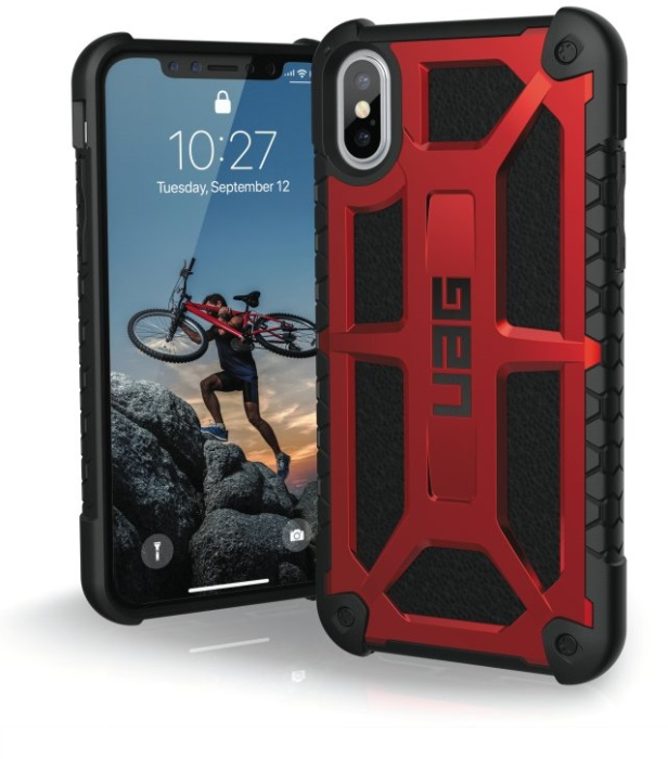Image of   Apple iPhone X/XS Cover UAG Monarch Rød Sort