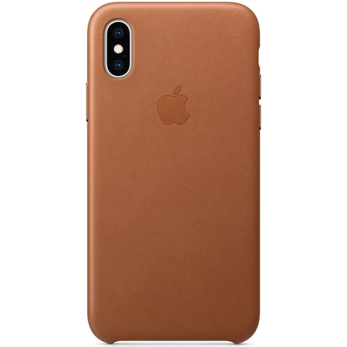 Image of   Apple iPhone XS Max Leather Case - Black MRWT2ZM/A