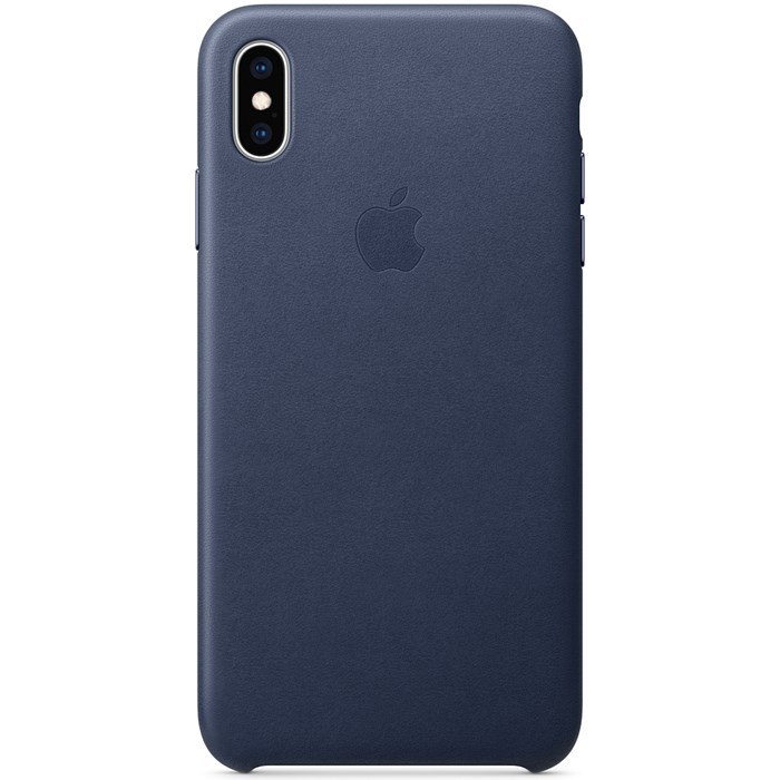 Image of   Apple iPhone XS Max Leather Case - Midnight Blue MRWU2ZM/A