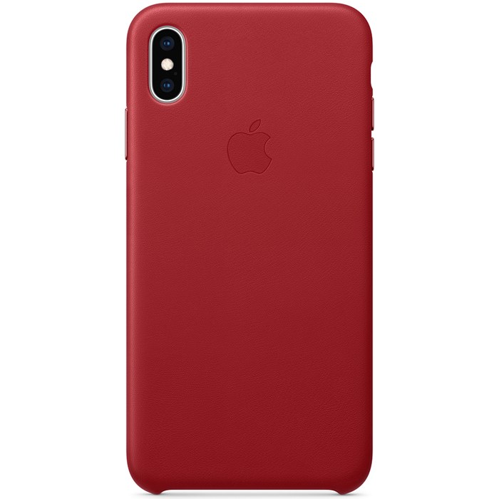 Image of   Apple iPhone XS Max Leather Case - (PRODUCT)RED MRWQ2ZM/A