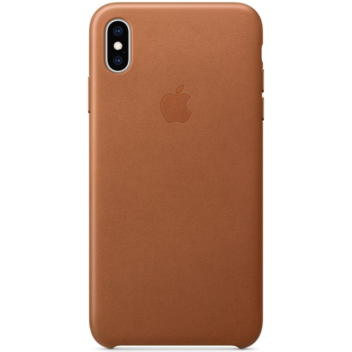 Image of   Apple iPhone XS Max Leather Case - Saddle Brown MRWV2ZM/A