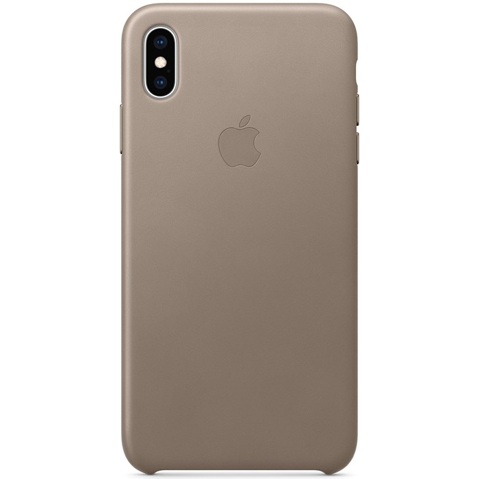 Image of   Apple iPhone XS Max Leather Case - Taupe MRWR2ZM/A