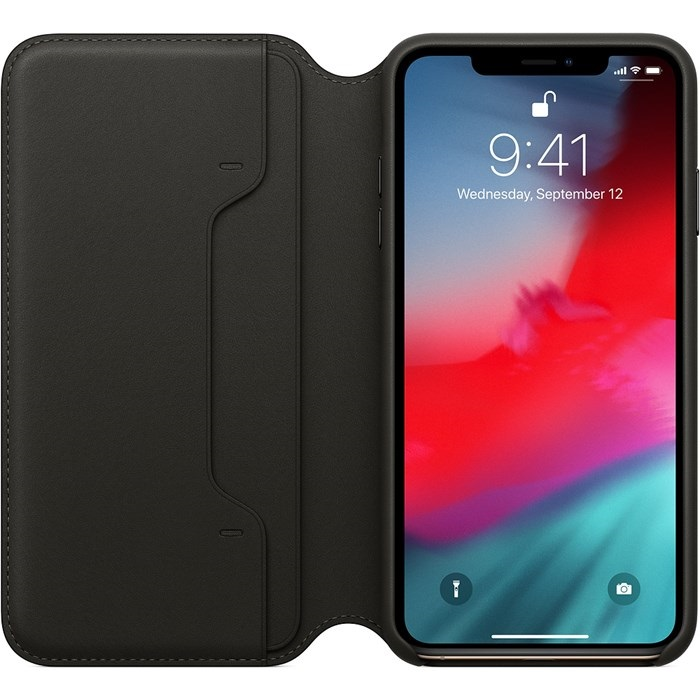 Image of   Apple iPhone XS Max Leather Folio - Black MRWW2ZM/A