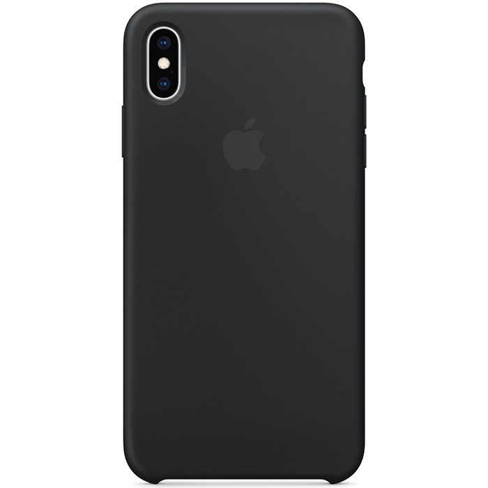 Image of   Apple iPhone XS Max Silicone Case - Black MRWE2ZM/A