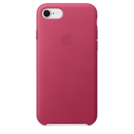 Image of   APPLE LEATHER CASE (IPHONE 8 PINK FUCHSIA)