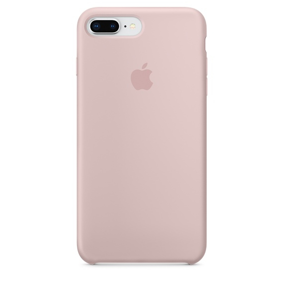 Image of   APPLE SILICONE CASE (IPHONE 8 PLUS PINK SAND)