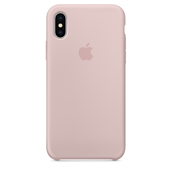 Image of   APPLE SILICONE CASE (IPHONE X PINK SAND)