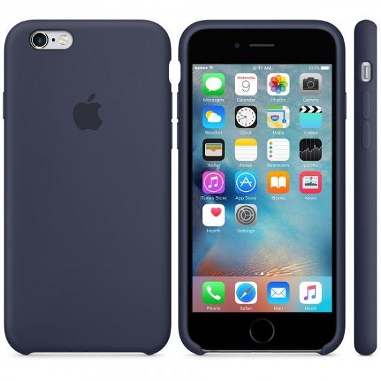 Billede af Apple iPhone 6S/6 Silikone Cover i Midnats Blå