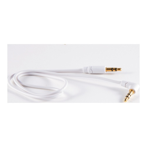 Image of   Audio cable 35mm angled male / straight male White 05m