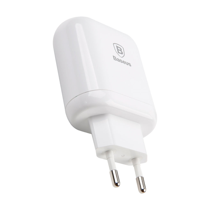 Image of   Baseus Bojure Series Dual-USB Quick Charge charger 18W - White