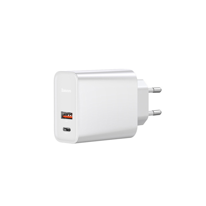 Image of   Baseus Speed PPS Quick charger USB-C+USB-A 30W