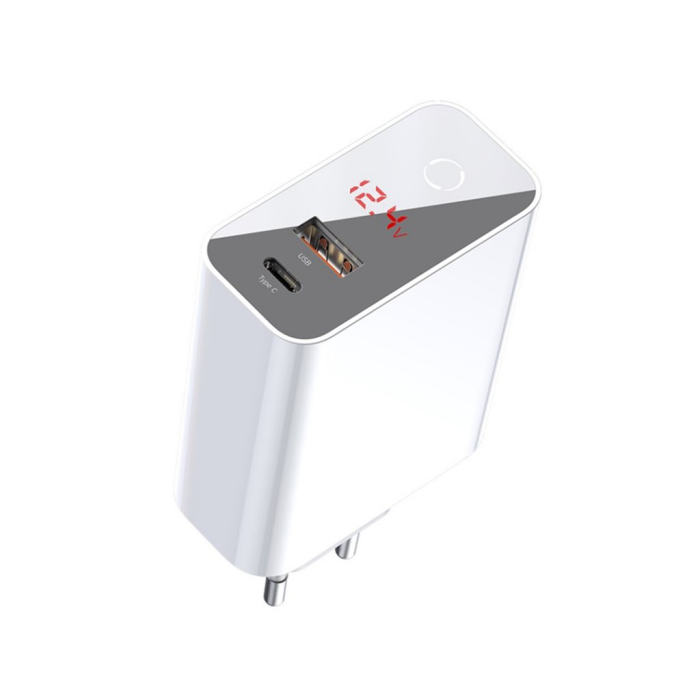 Image of   Baseus Speed PPS Quick charger with display USB-C+USB-A 45W