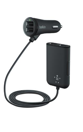 Image of   Belkin Biloplader Hub med 4 USB porte 36W