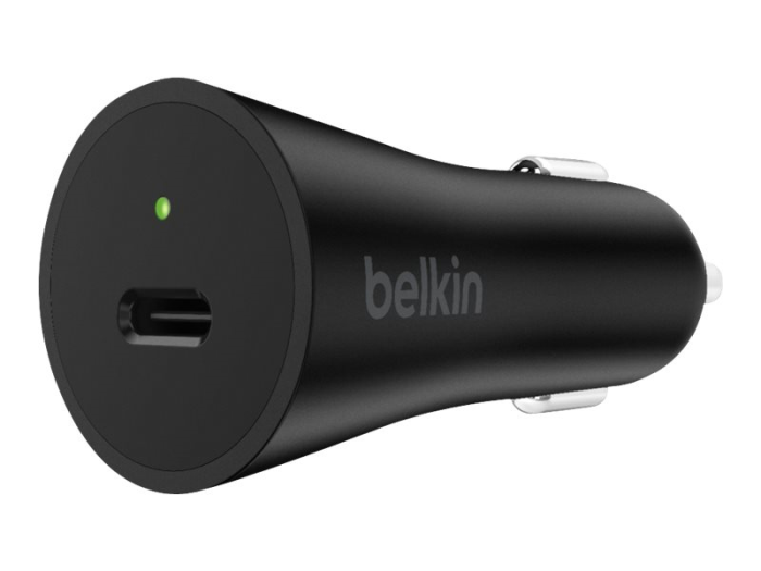 Image of   BELKIN CAR CHARGER (27W USB-C BLACK)