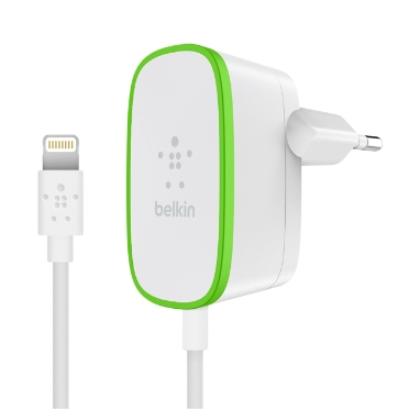 Image of   BELKIN HOME CHARGER (WIRED LIGHTNING CABLE 12W WHT)