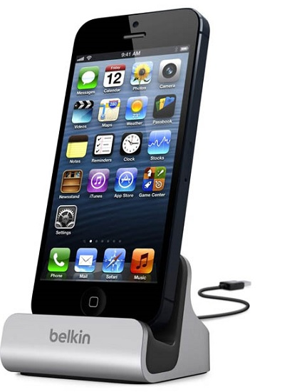 Image of   Belkin Lightning Charge + Sync Dock med datakabel Til iPhone