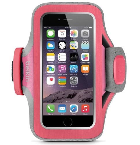 Billede af iPhone 6 armbånd Belkin Slim-Fit Plus Fucshia