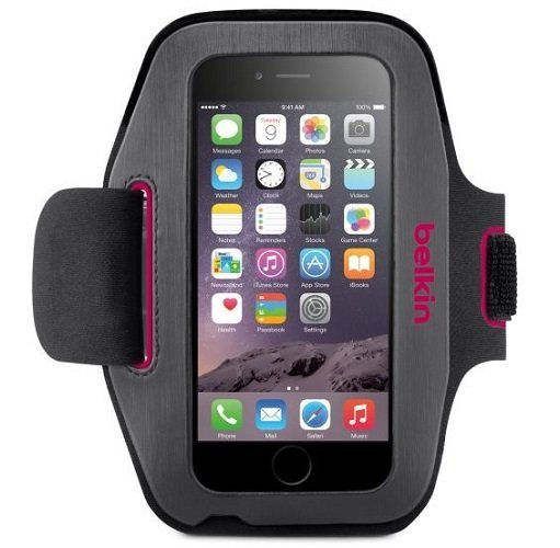 """Billede af Belkin iPhone 6 (4.7"""") Sport-Fit Armbånd Fucshia"""
