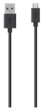 Image of   Belkin Sync&Charge MicroUSB Kabel 2m Sort