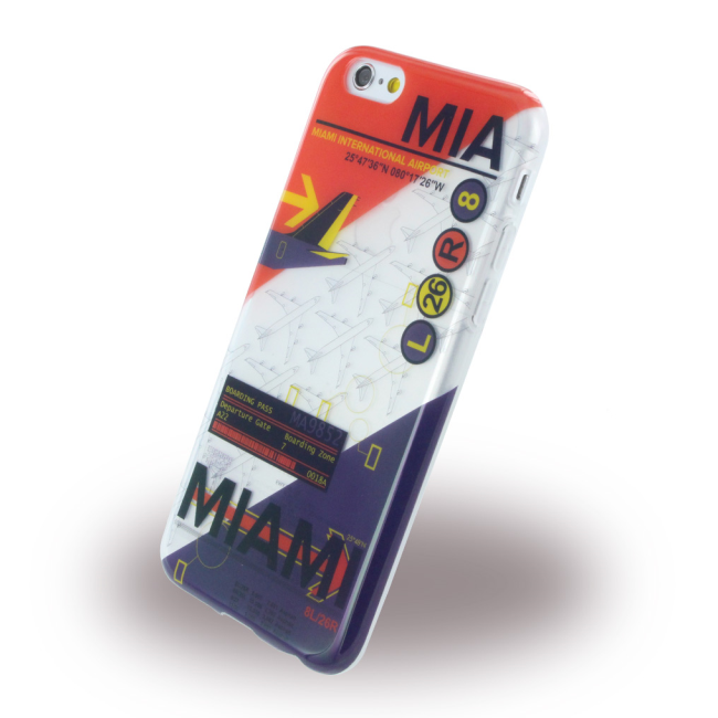 Image of   Benjamins - BJ6AIRMIA AirPort MIA Miami - Silicone Cover / Phone Skin - Apple iPhone 6 6S