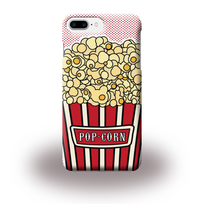 Image of   Benjamins - BJ7PPOPCORN - Silicone Cover / Phone Skin - Apple iPhone 7 Plus - Pop Corn