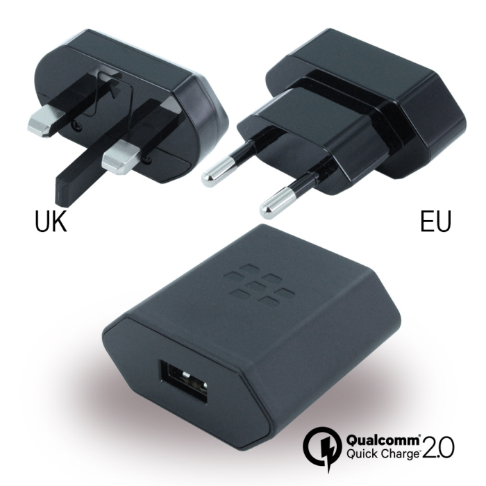 Image of   BlackBerry - Travel Charger + EU Clip - Black