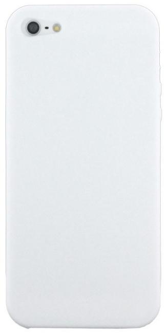 Billede af Blødt silikone cover til iPhone 5 / 5S / SE Hvid