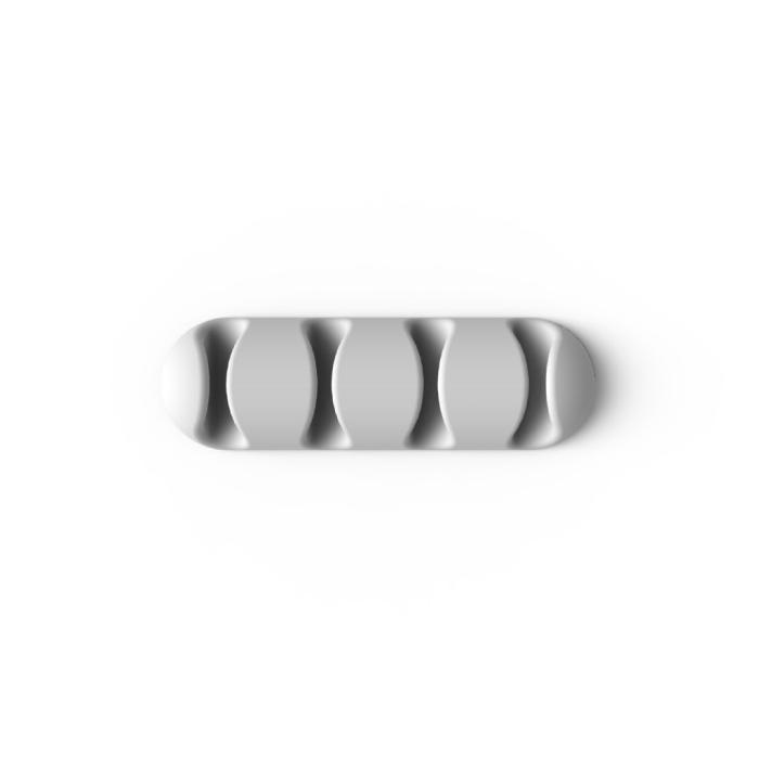 Image of   Bluelounge Cable Drop Multi-selvklæbende holder til kabler 2 stk - Hvid/Råhvid