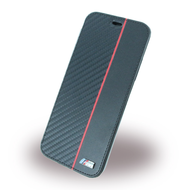 Image of   BMW - Bi-Material - Carbon Book Case - Apple iPhone X - Red