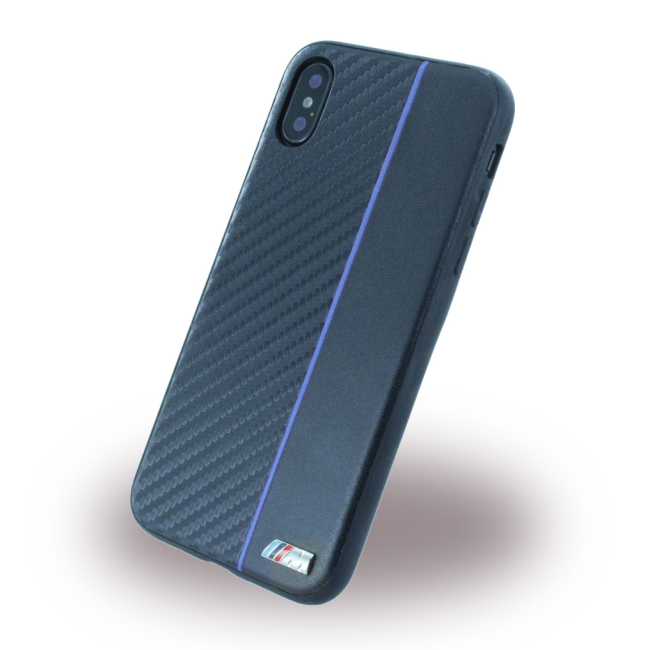 Image of   BMW - Bi-Material - Carbon Hard Cover - Apple iPhone X - Navy