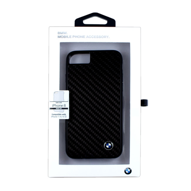 Image of   BMW - Carbon Fiber Hard Cover - Apple iPhone 7 and 8 - Black