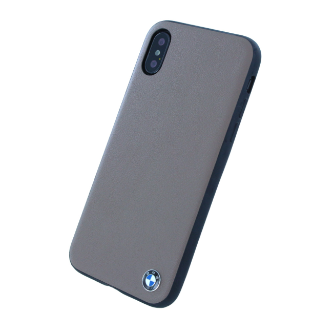 Image of   BMW - Leather Hard Cover - Apple iPhone X - Mocca