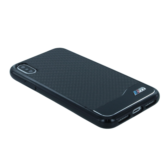 Image of   BMW M - Carbon + Aluminium - Hard Cover - Apple iPhone X - Black