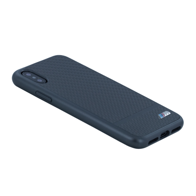 Image of   BMW M - Carbon Aluminium Stripe - Hard Cover - Apple iPhone X - Gun Metal