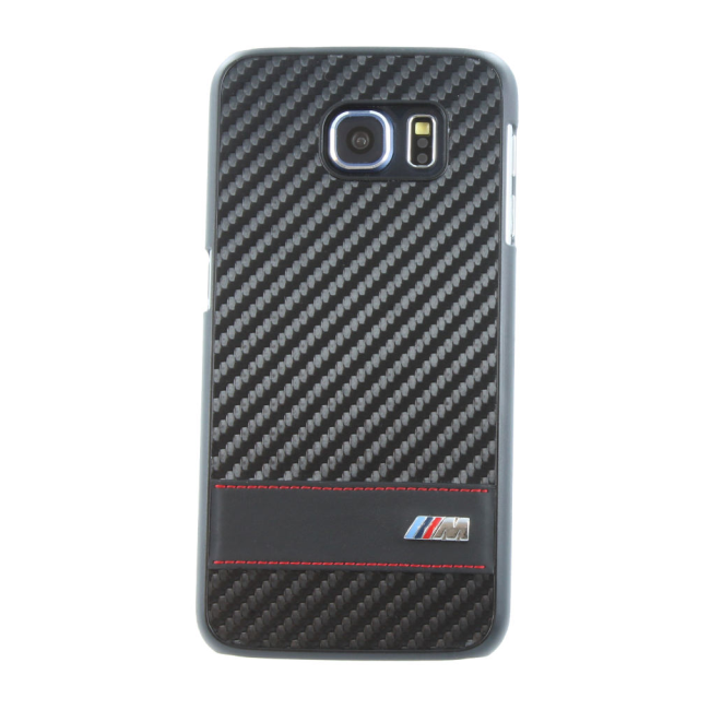 Image of   BMW - M Carbon Effect Collection - Hard Cover/ Case - Samsung G920F Galaxy S6 - Black