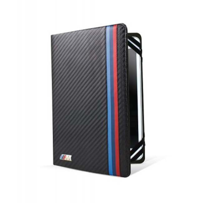 Image of   BMW - M Collection Carbon - Book Leather Case - 7 to 8 inch - Black
