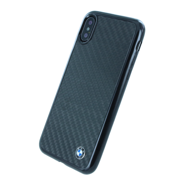 Image of   BMW - Real Carbon Hard Cover - Apple iPhone X - Black