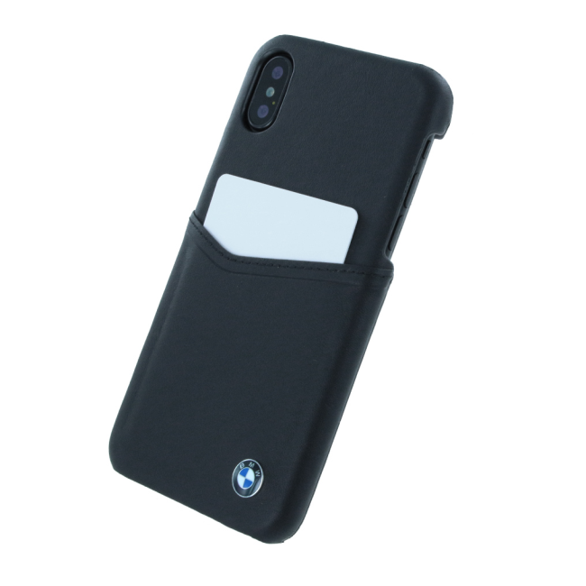 Image of   BMW - Signature - Leather Hard Cover - Apple iPhone X - Black