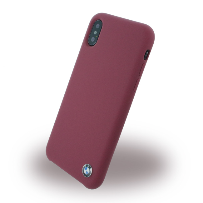 Image of   BMW - Signature - Silicone Cover - Apple iPhone X - Burgundy